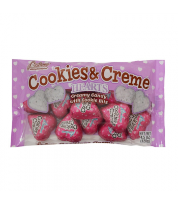 Palmer's Cookies & Creme Hearts - 4.5oz (128g) Sweets and Candy