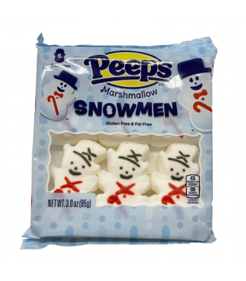Peeps Marshmallow Snowmen 6 Pack - 3oz (85g) Sweets and Candy Peeps