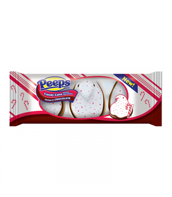 Peeps Candy Cane Chicks Dipped in Chocolate 3-Pack - 1.5oz (42g) [Christmas] Sweets and Candy Peeps