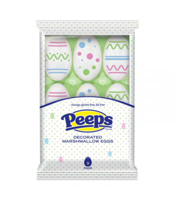 Peeps Easter Decorated Marshmallow Eggs 3.38oz Sweets and Candy Peeps