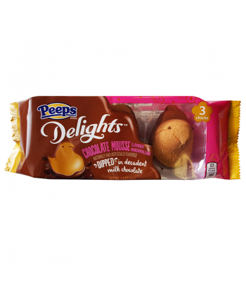 Peeps Delights Milk Chocolate Dipped Chocolate Mousse Chicks 1.5oz (42g) Soft Candy Peeps