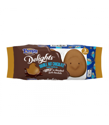 Peeps Delights Dark Chocolate Dipped Hot Chocolate Chicks 3 Pack - 1.5oz (42g) Sweets and Candy Peeps