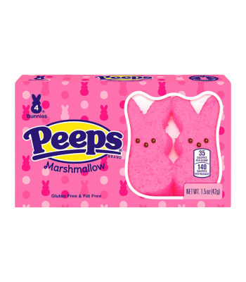Peeps Easter Pink Bunnies 4PK - 1.5oz (42g) Sweets and Candy Peeps
