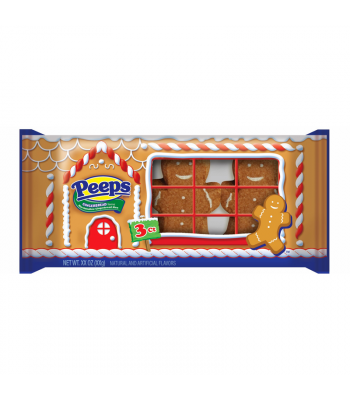 Peeps Marshmallow Gingerbread Men 3-Pack - 1.19oz (33g) [Christmas] Sweets and Candy Peeps