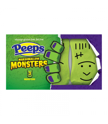Peeps Halloween Marshmallow Monsters 3PK - 1.5oz (42g) Sweets and Candy Peeps