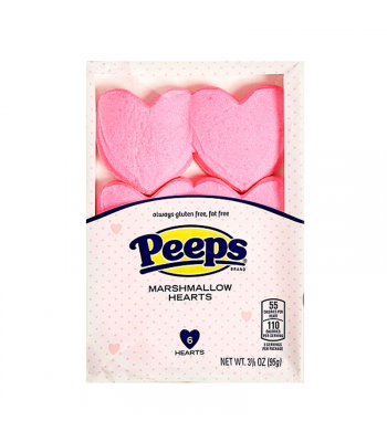 Peeps Pink Marshmallow Hearts 6-Pack - 3.5oz (95g) Sweets and Candy Peeps