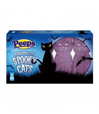 Peeps Marshmallow Spooky Cats 4-Pack - 1.125oz (32g) Sweets and Candy Peeps
