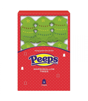 Peeps Marshmallow Trees 9-Pack - 3.375oz (95g) [Christmas] Sweets and Candy Peeps