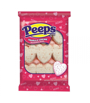 Peeps Vanilla Creme Marshmallow Hearts 3oz (85g) Sweets and Candy Peeps