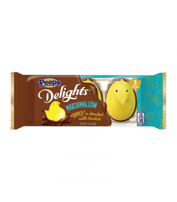 Peeps Delights Dipped Milk Chocolate Yellow Marshmallow Chicks 1.5oz (42g) Sweets and Candy Peeps