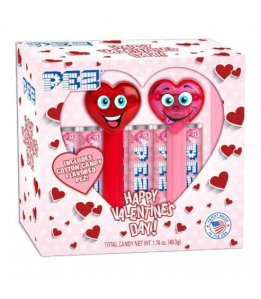 Pez Valentine Hearts Twin Pack - 1.74oz (49.3g) Sweets and Candy PEZ