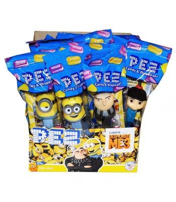 PEZ Despicable Me Dispenser + 2 PEZ Candy Packs - 0.58oz (16.4g) Sweets and Candy PEZ