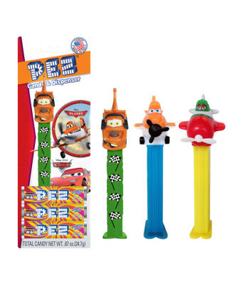 PEZ Disney Cars/Disney Planes Candy & Dispenser - 0.87oz (24.7g) Sweets and Candy PEZ