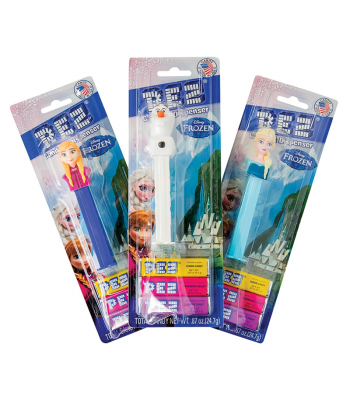 PEZ Disney Frozen Dispenser + 3 Tablet Packs - 0.87oz (24.7g) Sweets and Candy PEZ