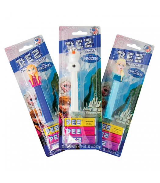PEZ Disney Frozen Dispenser + 3 Tablet Packs - 0.87oz (24.7g) Sweets and Candy PEZ