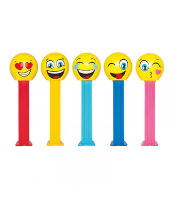 PEZ Emoji Character Dispenser + 2 PEZ Tablet Packs Sweets and Candy PEZ