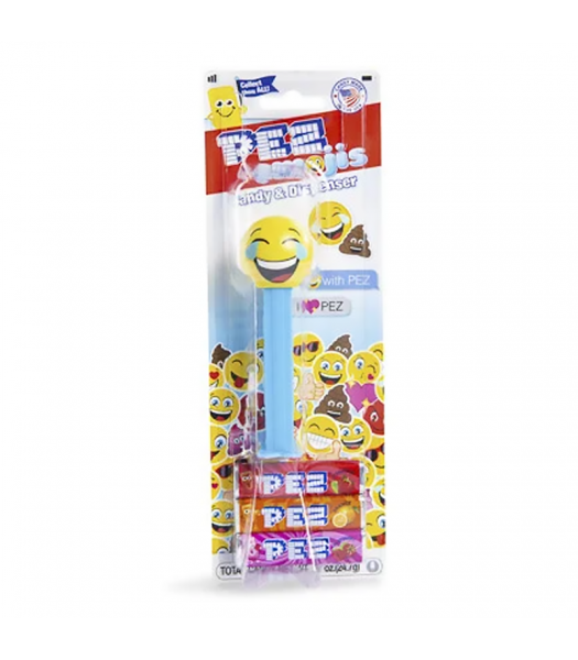 PEZ Emojis Dispenser + 3 Tablet Packs - 0.87oz (24.7g) Sweets and Candy PEZ