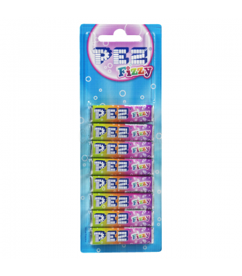 PEZ Fizzy Refill Pack - 8 Packs Sweets and Candy PEZ