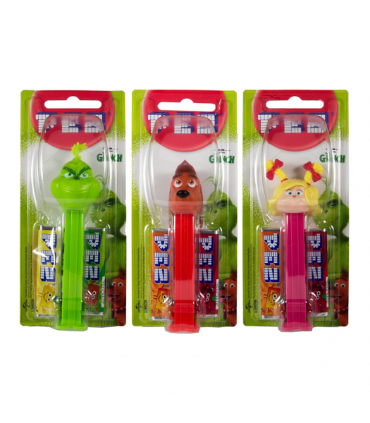 PEZ Grinch + 2 PEZ Tablet Packs [Christmas] Sweets and Candy PEZ