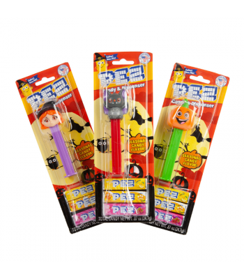PEZ Halloween Candy & Dispenser Blister Pack - 0.87oz (24.7g) Sweets and Candy PEZ