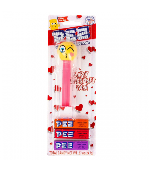 PEZ Happy Valentine's Day! Candy & Dispenser Blister Pack - 0.87oz (24.7g) Sweets and Candy PEZ