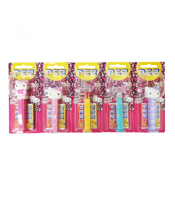 PEZ Hello Kitty Dispenser + 2 PEZ Tablet Packs Sweets and Candy PEZ