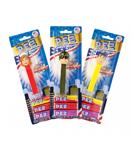PEZ Heroes Blister Pack - 0.87oz (24.7g) Sweets and Candy PEZ