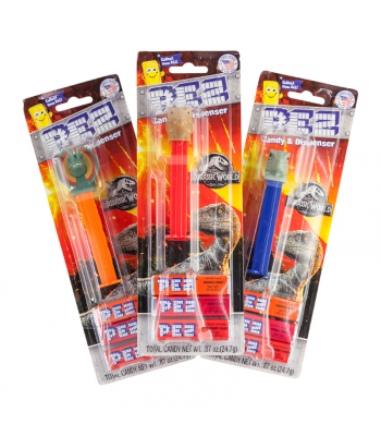 PEZ Jurassic World Blister Pack - 0.87oz (24.7g) Sweets and Candy PEZ