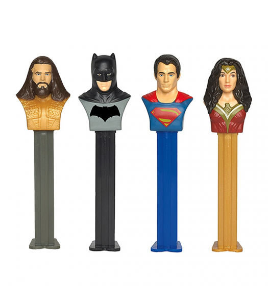 PEZ Justice League Dispenser & Candy Poly Pack - 0.58oz (16.4g) Sweets and Candy PEZ