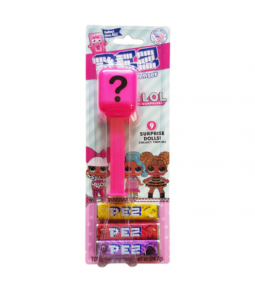 PEZ LOL Surprise Candy Dispenser (Blister Pack) + 3 PEZ Tablet Packs - 0.87oz (24.7g) Sweets and Candy PEZ