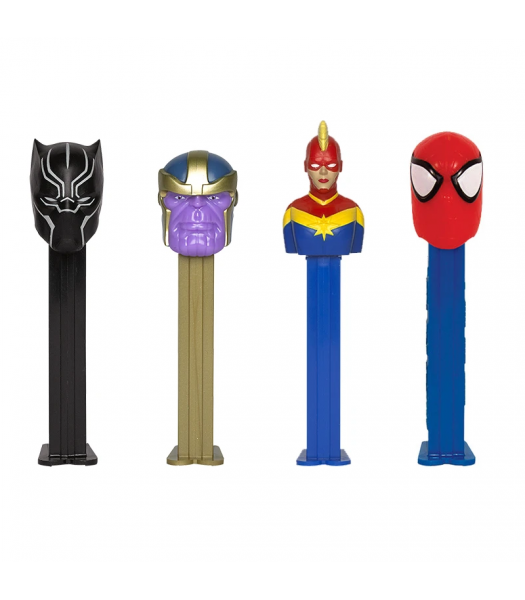 PEZ Marvel Candy Dispenser (Poly Pack) + 2 PEZ Tablet Packs - 0.58oz (16.4g) Sweets and Candy PEZ
