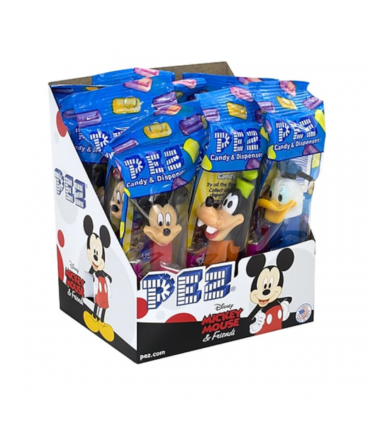 PEZ Mickey Mouse & Friends Dispenser (Poly Pack) + 2 PEZ Tablet Packs - 0.58oz (16.4g) Sweets and Candy PEZ
