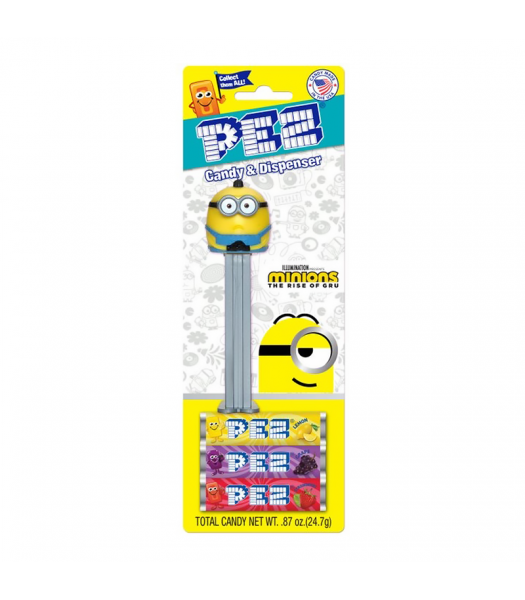 PEZ Minions The Rise of Gru Blister Pack - 0.87oz (24.7g) Sweets and Candy PEZ
