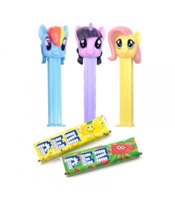 PEZ My Little Pony Dispenser + 2 PEZ Tablet Packs Sweets and Candy