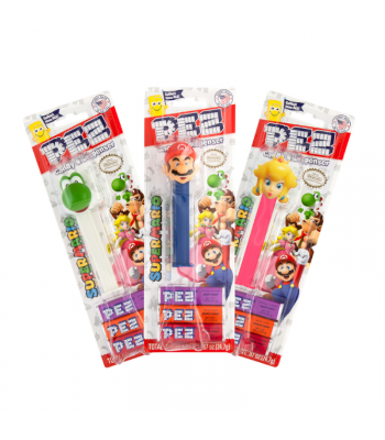 PEZ Nintendo Super Mario Blister Pack - 0.87oz (24.7g) Sweets and Candy PEZ