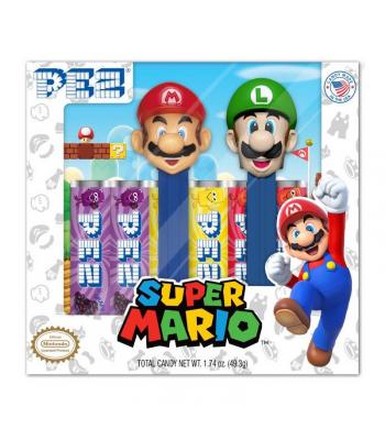 PEZ Nintendo Super Mario Gift Set - 1.74oz (49.3g) Sweets and Candy PEZ