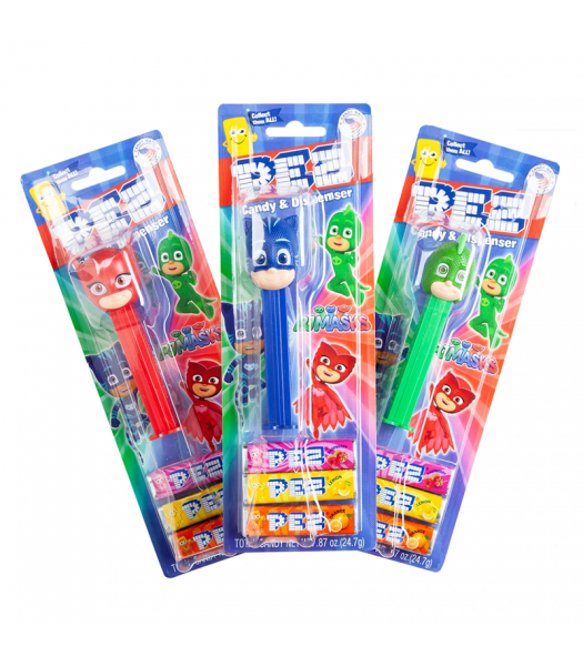 PEZ PJ Masks Dispenser + 3 Tablet Packs - 0.87oz (24.7g) Sweets and Candy PEZ