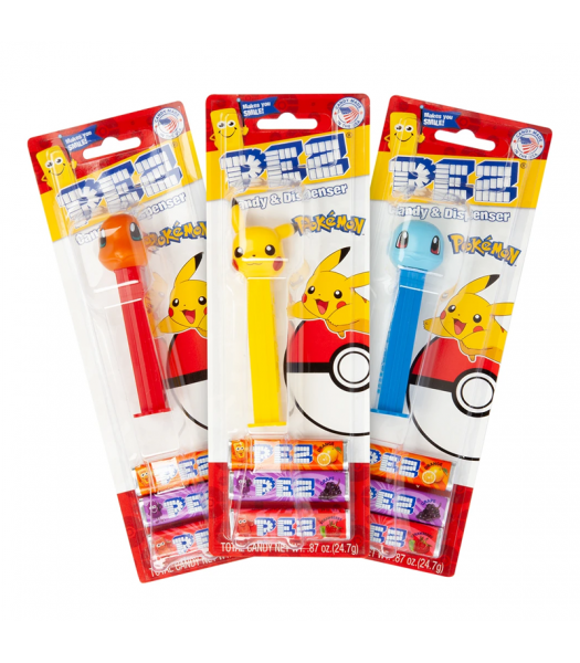 PEZ Pokemon Dispenser + 3 PEZ Tablet Packs - 0.87oz (24.7g) Sweets and Candy PEZ