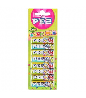 PEZ Sour Mix Refill Pack - 8 Packs Sweets and Candy PEZ