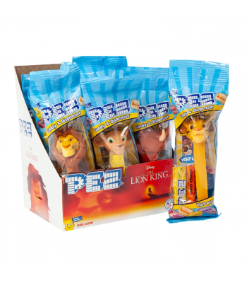 PEZ The Lion King Candy Dispenser (Poly Pack) + 2 PEZ Tablet Packs - 0.58oz (16.4g) Sweets and Candy PEZ