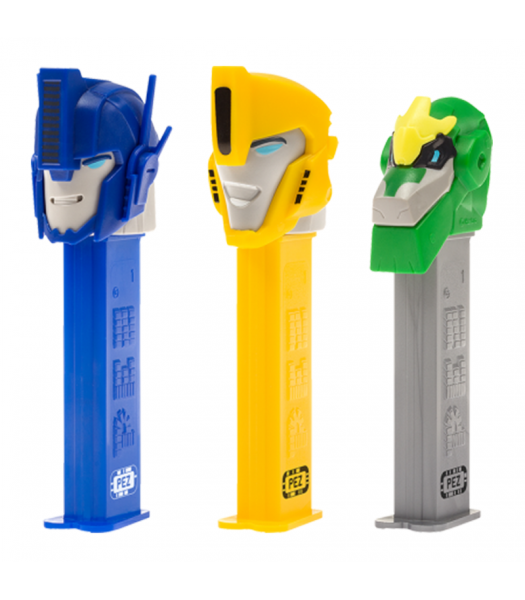 PEZ Transformers Dispenser + 2 PEZ Tablet Packs Sweets and Candy PEZ
