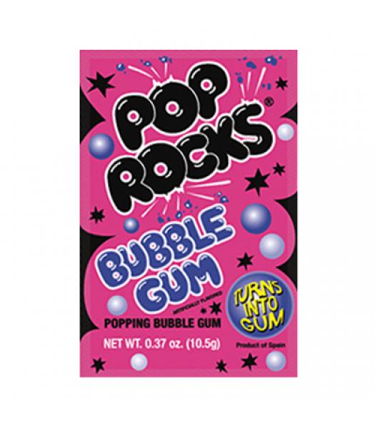 Pop Rocks Bubble Gum 10.5g Sweets and Candy Pop Rocks