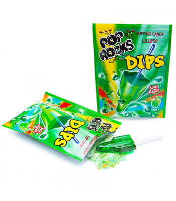 Pop Rocks Dips - Sour Apple 0.63oz (18g) Sweets and Candy Pop Rocks