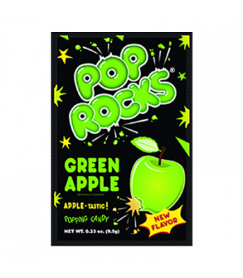 Pop Rocks Green Apple Candy 9.5g Hard Candy Pop Rocks