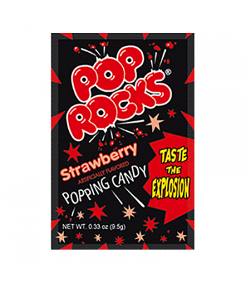 Pop Rocks Strawberry 9.5g Hard Candy Pop Rocks