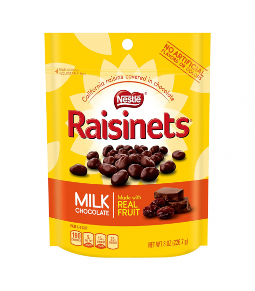 Raisinets Milk Chocolate Stand Up Bag - 8oz (226.7g) Sweets and Candy Nestlé