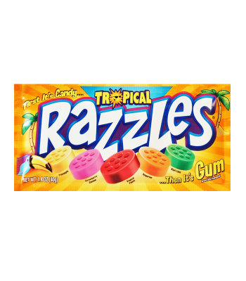 Razzles Tropical Pouch 1.4oz (40g) Soft Candy Razzles