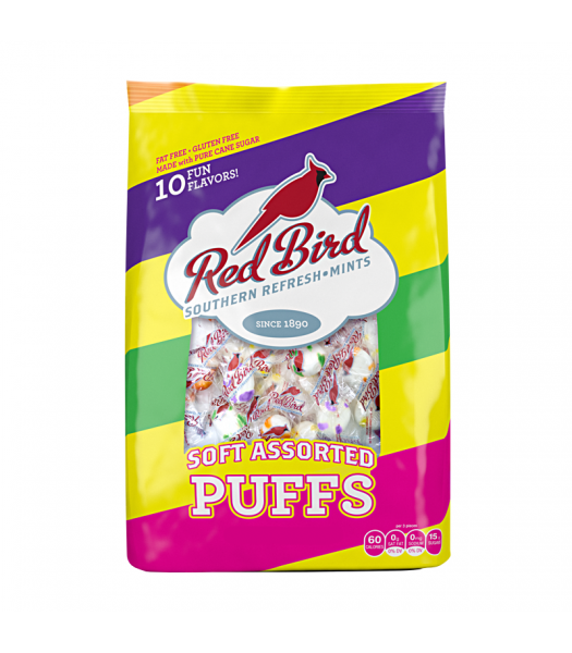Red Bird - Assorted Fruit Candy Puffs - 4oz (113g) Hard Candy
