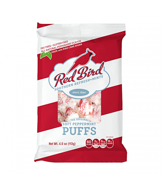 Red Bird - Peppermint Candy Puffs - 4oz (113g) Sweets and Candy