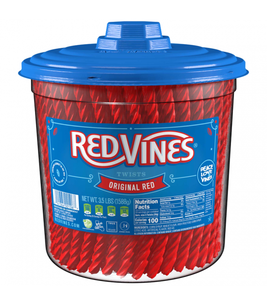 Red Vines Original Red Twists HUGE TUB - 3.5lb (1588g) Sweets and Candy Red Vines